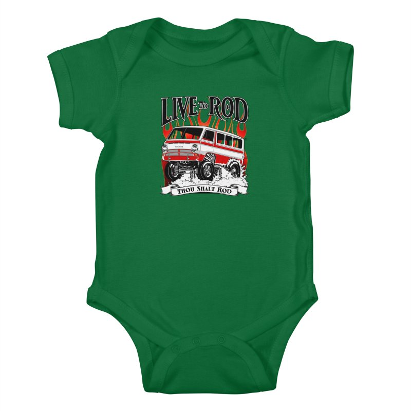 69' Dodge Gasser van, clean red Kids Baby Bodysuit by screamnjimmy's Artist Shop