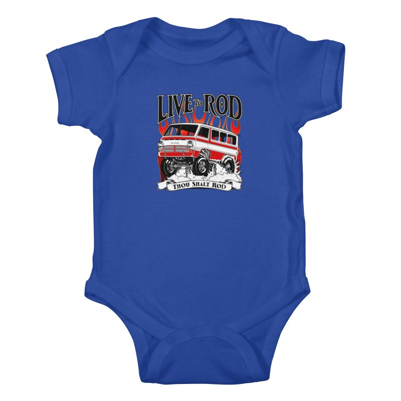 69' Dodge Gasser van, clean red Kids Baby Bodysuit by screamnjimmy's Artist Shop