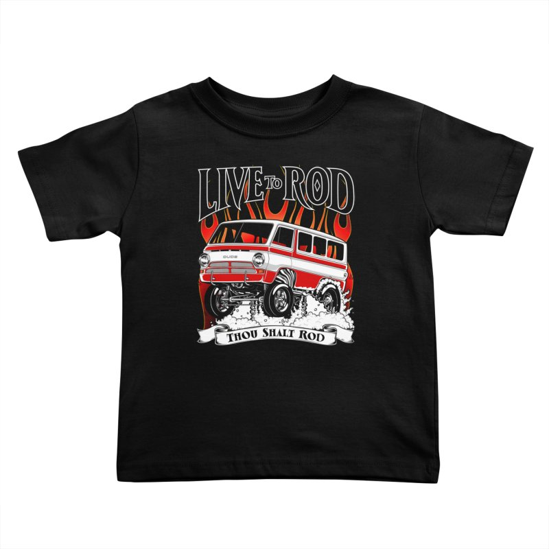 69' Dodge Gasser van, clean red Kids Toddler T-Shirt by screamnjimmy's Artist Shop