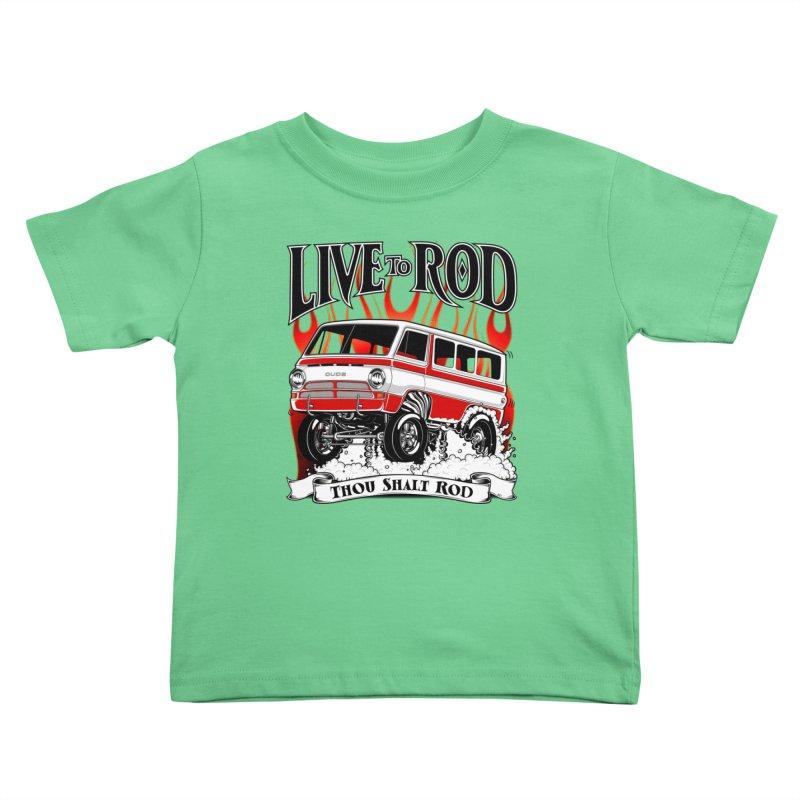 69' Dodge Gasser van, clean red Kids Toddler T-Shirt by screamnjimmy's Artist Shop