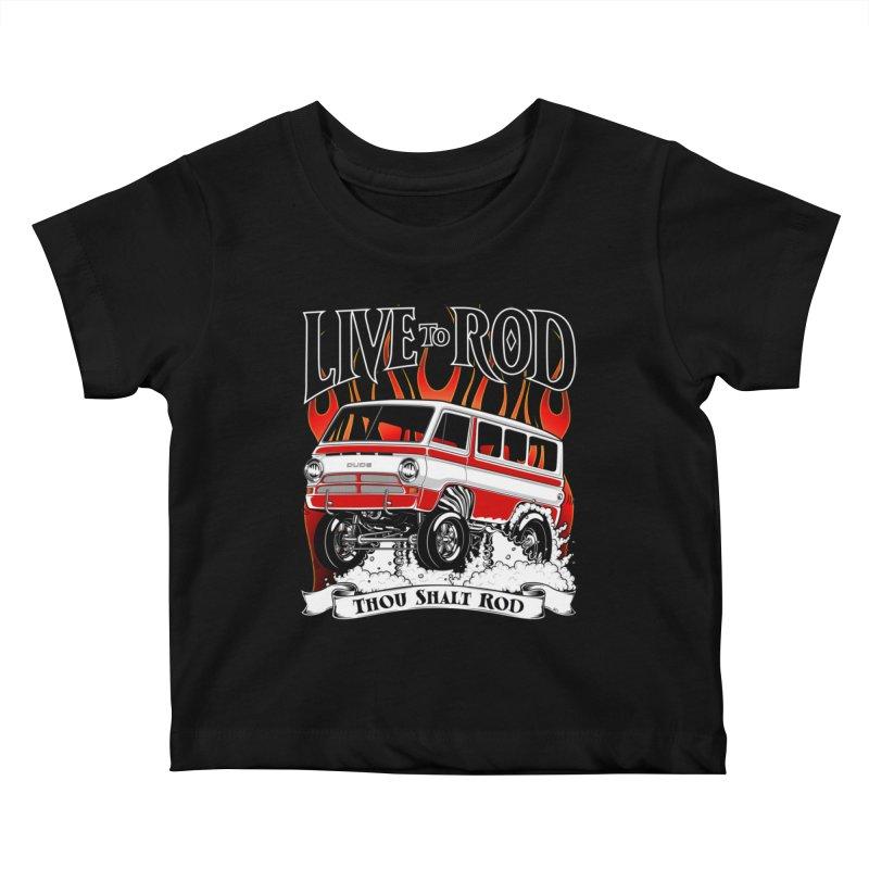 69' Dodge Gasser van, clean red Kids Baby T-Shirt by screamnjimmy's Artist Shop