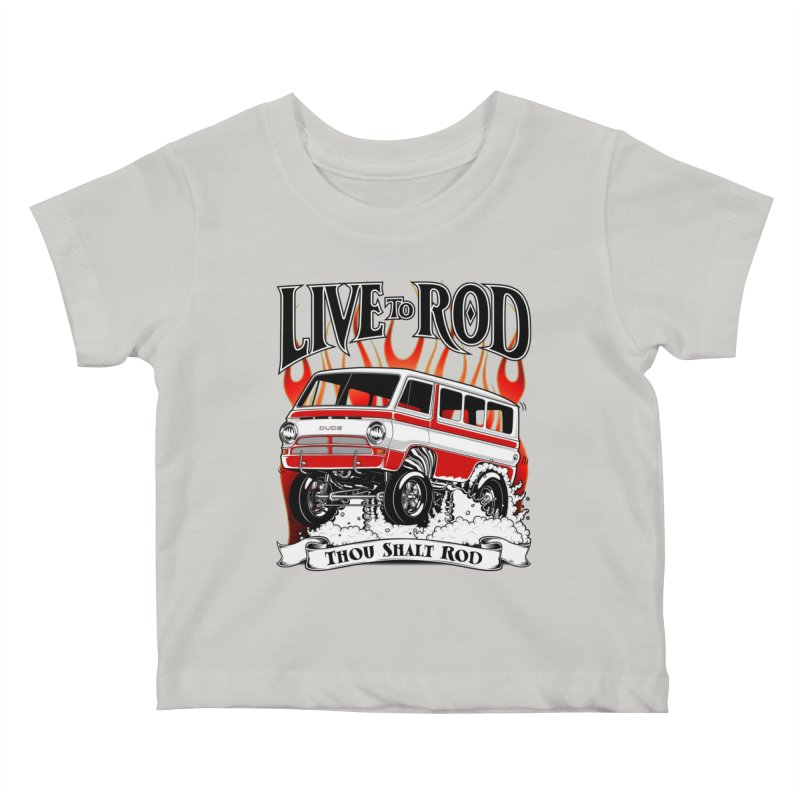 69' Dodge Gasser van, clean red Kids Baby T-Shirt by screamnjimmy's Artist Shop