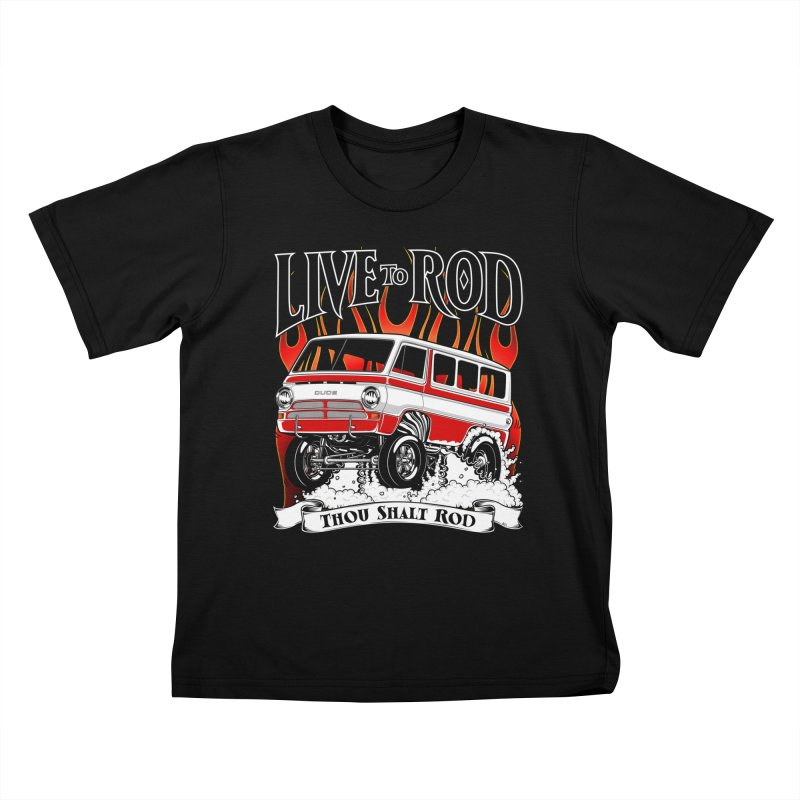 69' Dodge Gasser van, clean red Kids T-shirt by screamnjimmy's Artist Shop