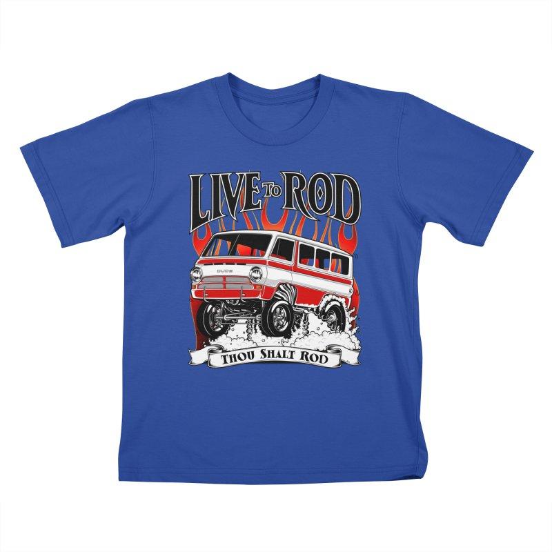 69' Dodge Gasser van, clean red Kids T-shirt by screamnjimmy's Artist Shop