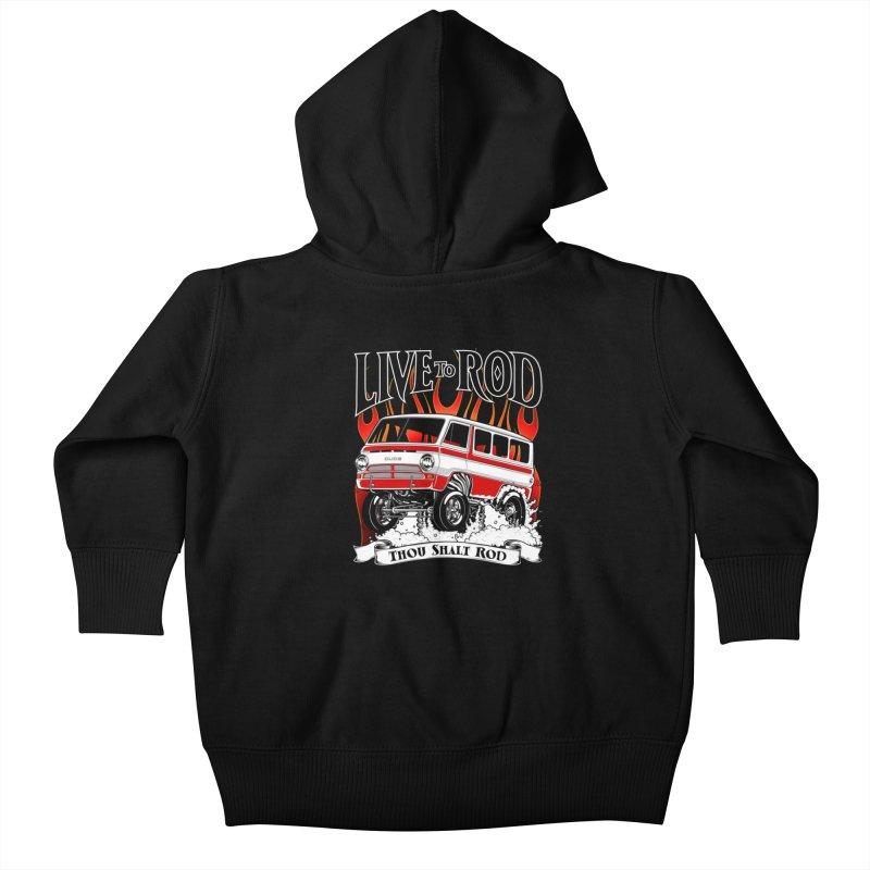 69' Dodge Gasser van, clean red Kids Baby Zip-Up Hoody by screamnjimmy's Artist Shop