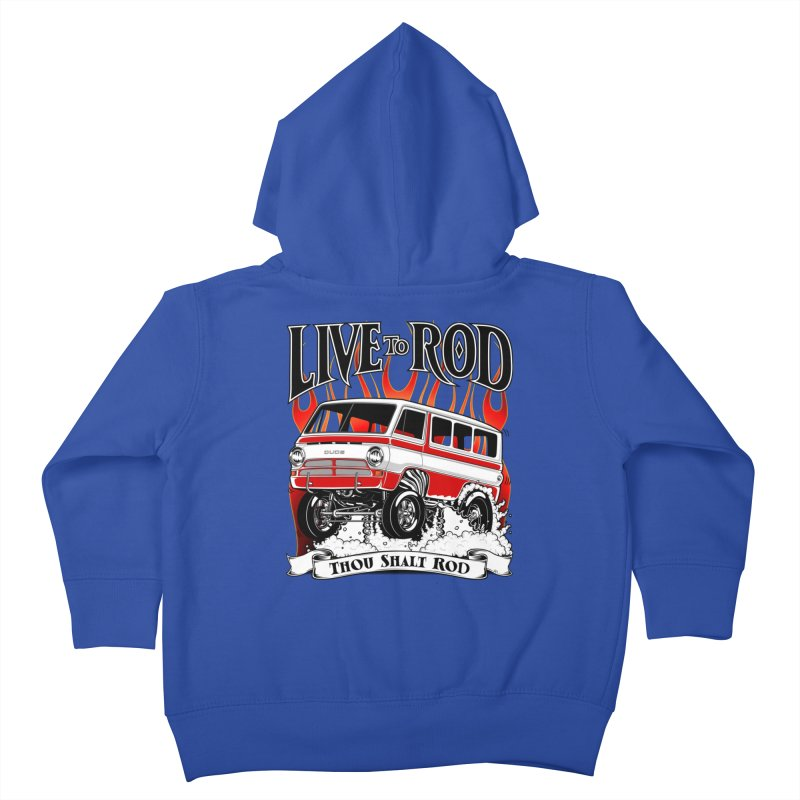 69' Dodge Gasser van, clean red Kids Toddler Zip-Up Hoody by screamnjimmy's Artist Shop