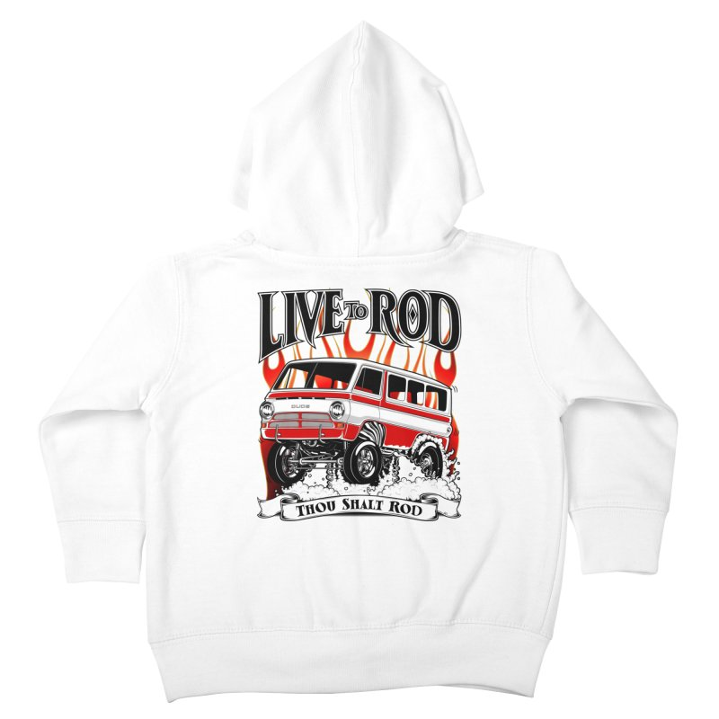69' Dodge Gasser van, clean red Kids Toddler Zip-Up Hoody by screamnjimmy's Artist Shop