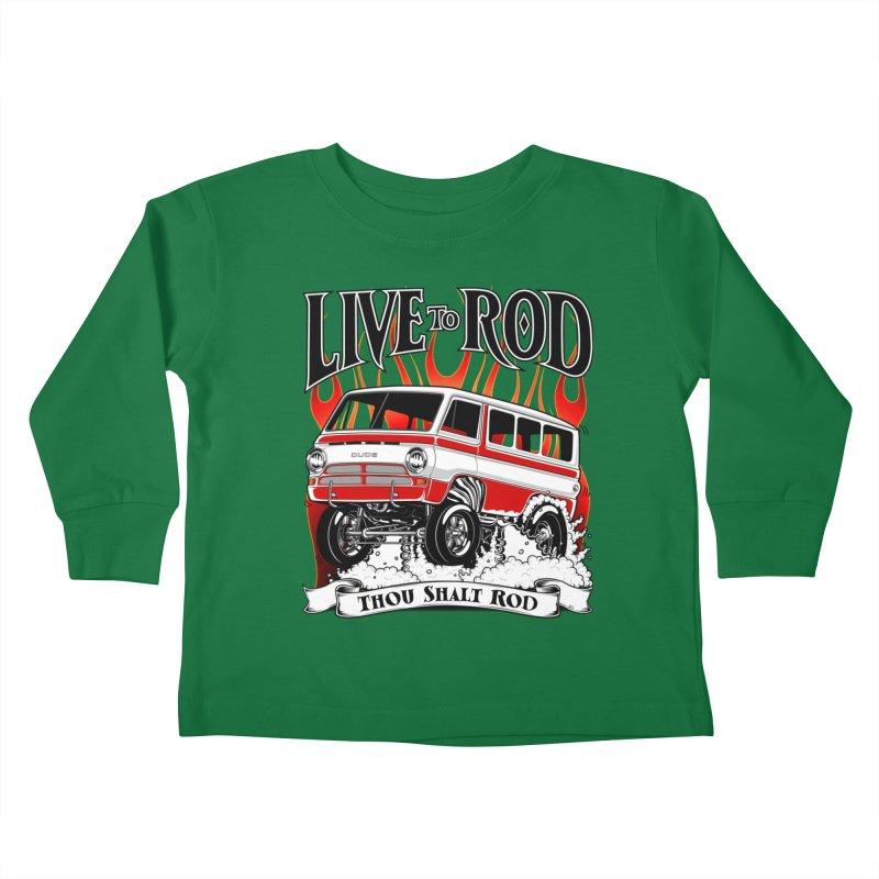 69' Dodge Gasser van, clean red Kids Toddler Longsleeve T-Shirt by screamnjimmy's Artist Shop