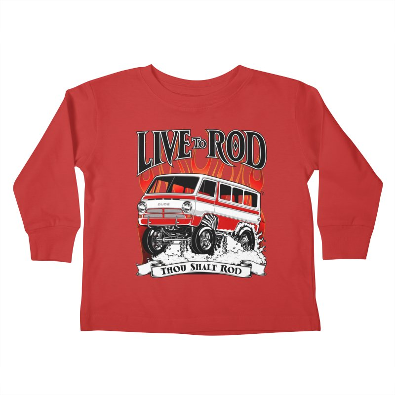 69' Dodge Gasser van, clean red Kids Toddler Longsleeve T-Shirt by screamnjimmy's Artist Shop