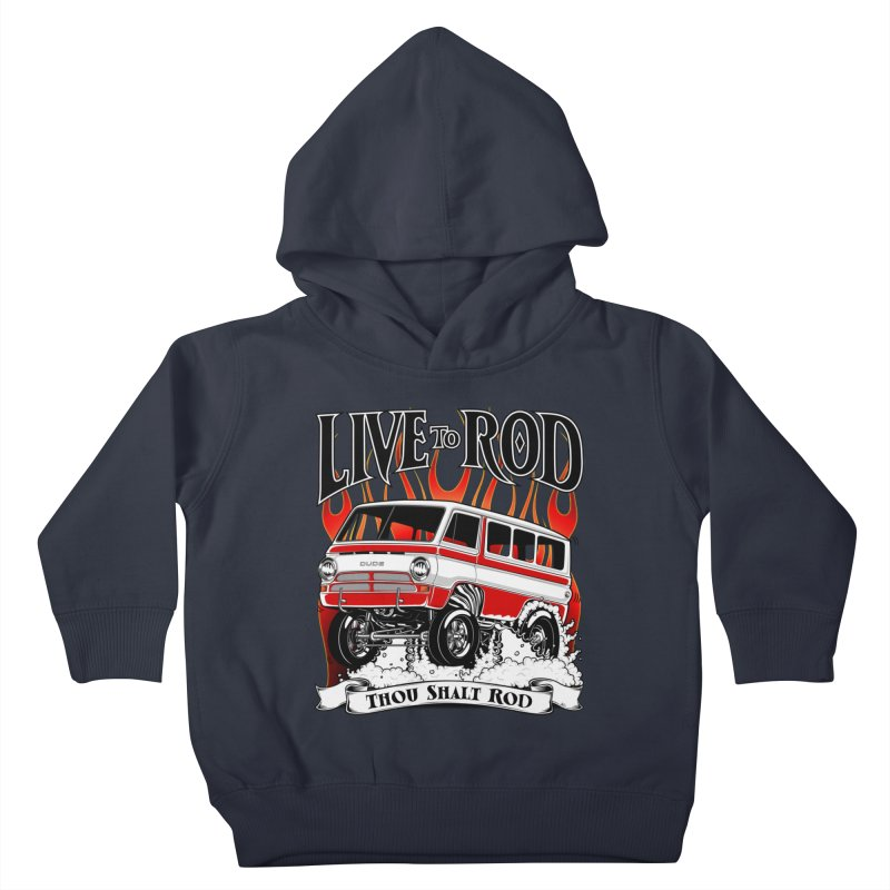 69' Dodge Gasser van, clean red Kids Toddler Pullover Hoody by screamnjimmy's Artist Shop