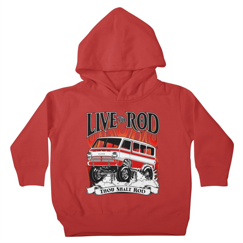 69' Dodge Gasser van, clean red Kids Toddler Pullover Hoody by screamnjimmy's Artist Shop