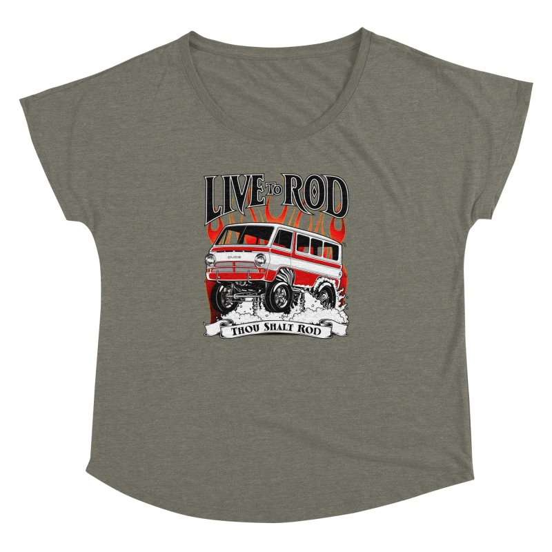 69' Dodge Gasser van, clean red Women's Dolman by screamnjimmy's Artist Shop