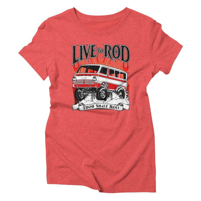 69' Dodge Gasser van, clean red Women's Triblend T-Shirt by screamnjimmy's Artist Shop