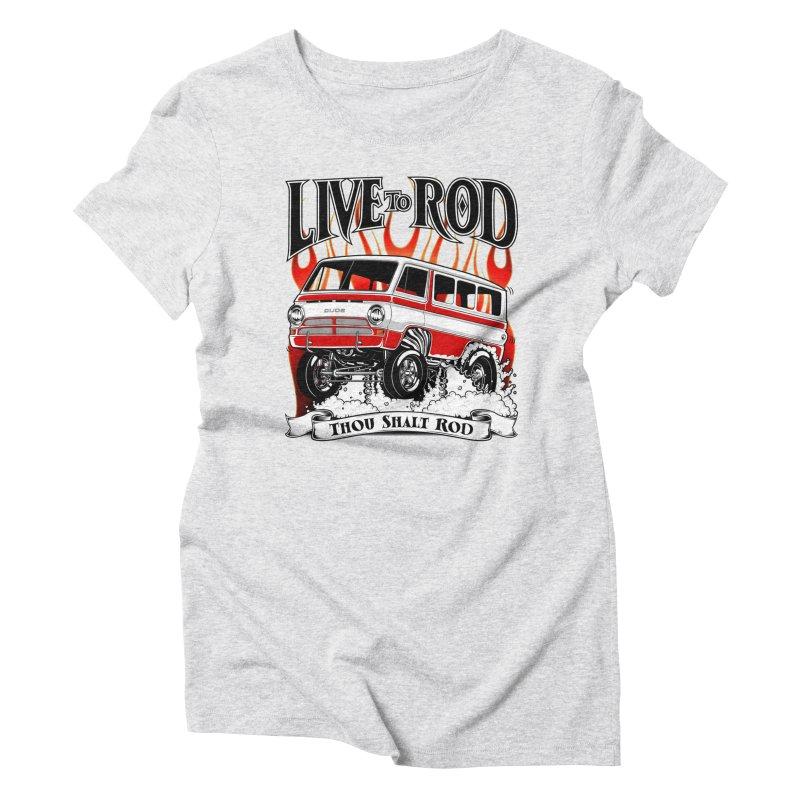 69' Dodge Gasser van, clean red Women's T-Shirt by screamnjimmy's Artist Shop