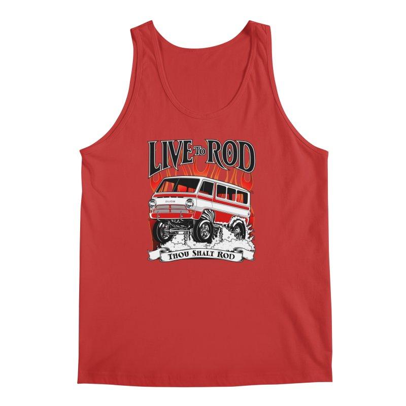 69' Dodge Gasser van, clean red Men's Tank by screamnjimmy's Artist Shop