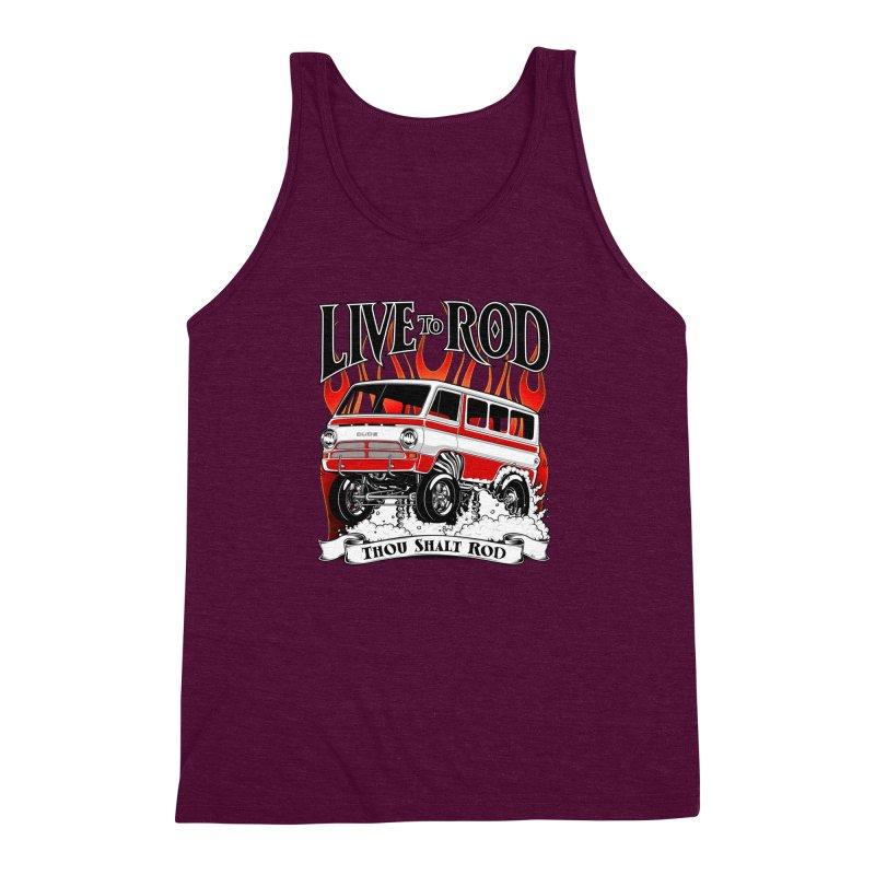 69' Dodge Gasser van, clean red Men's Triblend Tank by screamnjimmy's Artist Shop