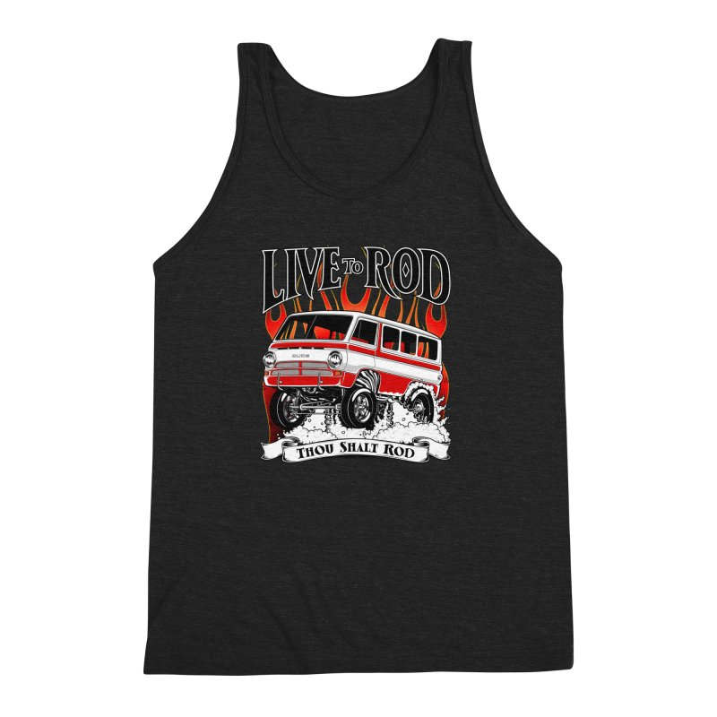 69' Dodge Gasser van, clean red Men's Triblend Tank by screamnjimmy's Artist Shop
