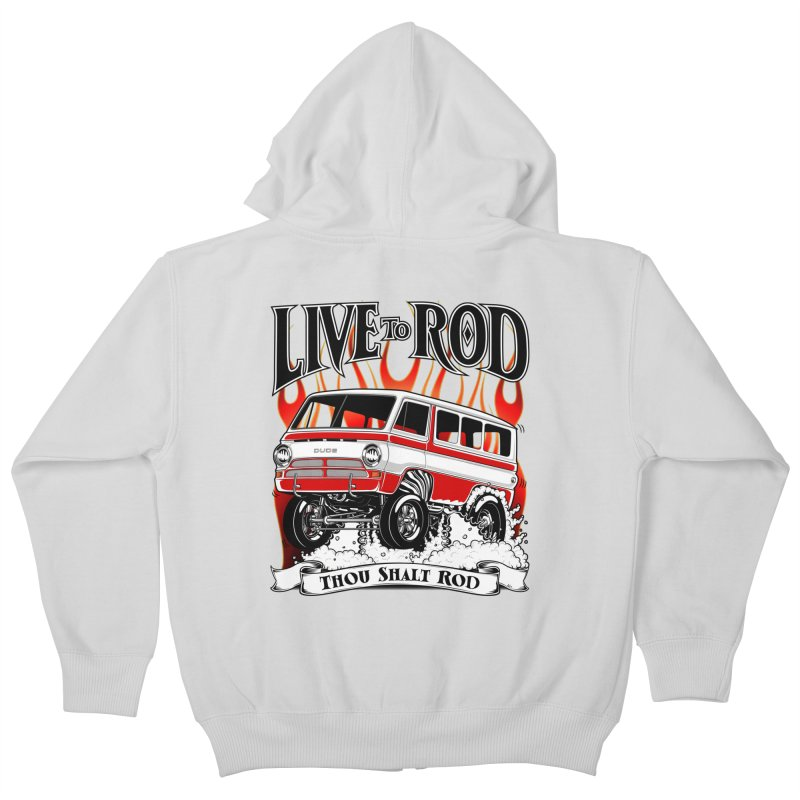 69' Dodge Gasser van, clean red Kids Zip-Up Hoody by screamnjimmy's Artist Shop