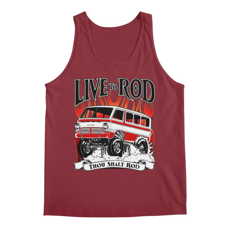 69' Dodge Gasser van, clean red Men's Regular Tank by screamnjimmy's Artist Shop