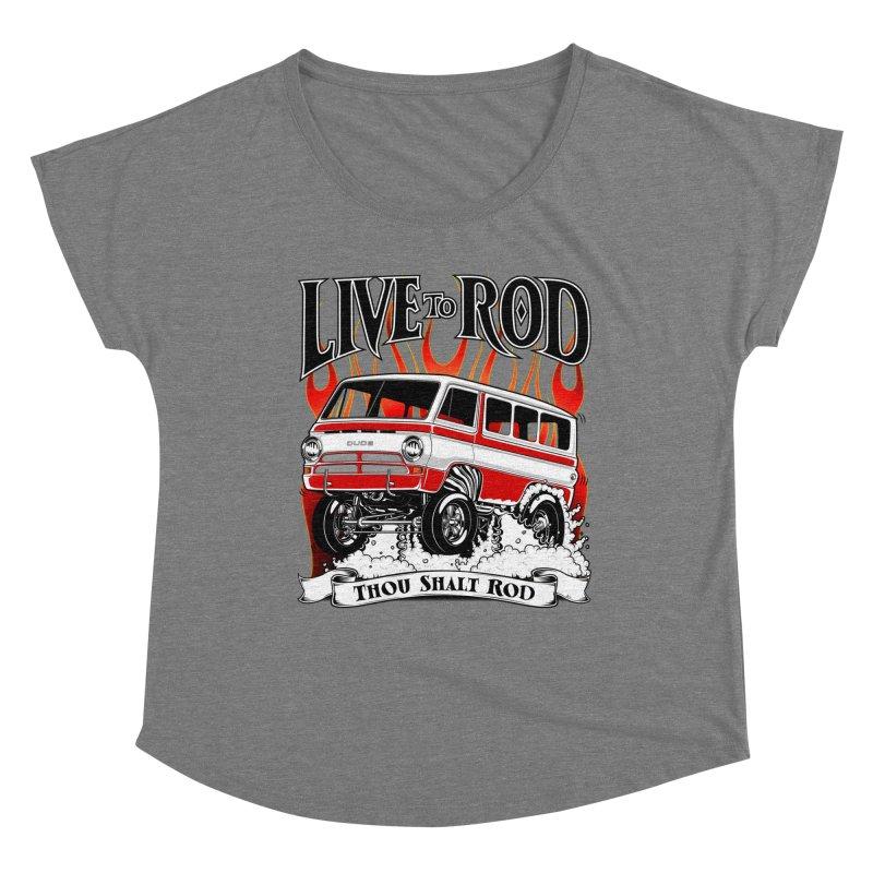 69' Dodge Gasser van, clean red Women's Scoop Neck by screamnjimmy's Artist Shop