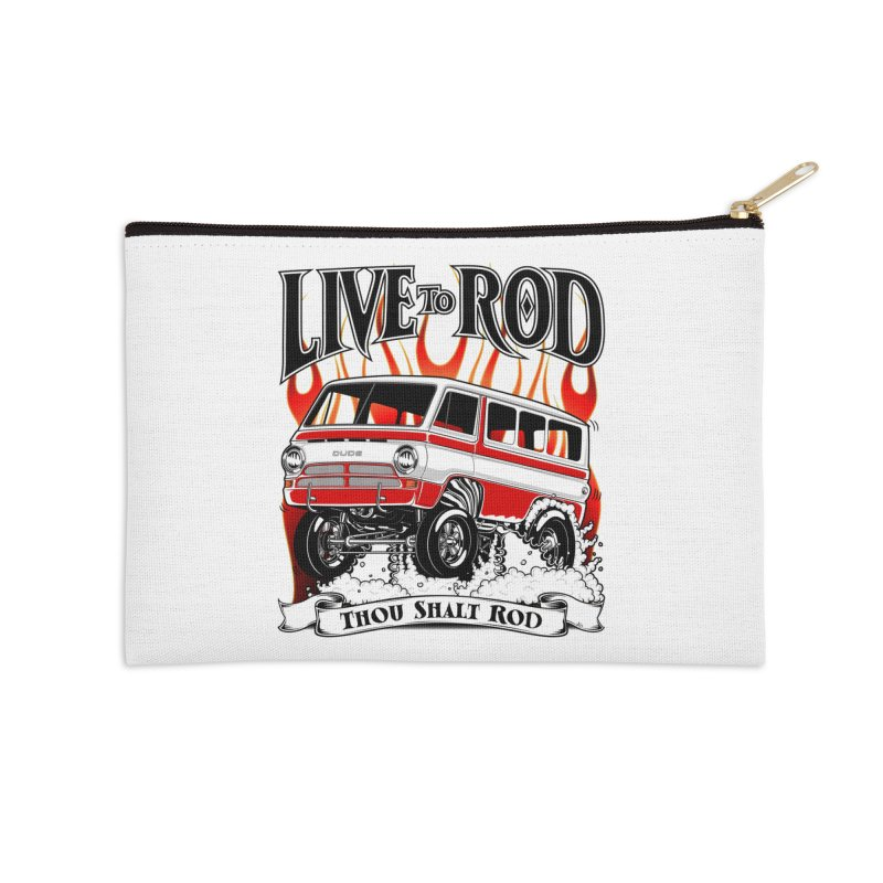 69' Dodge Gasser van, clean red Accessories Zip Pouch by screamnjimmy's Artist Shop