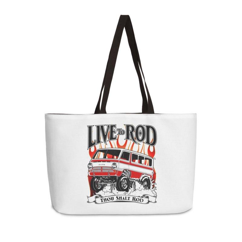 69' Dodge Gasser van, clean red Accessories Bag by screamnjimmy's Artist Shop