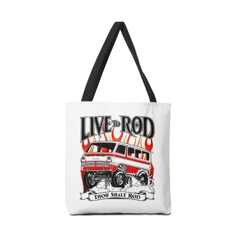 69' Dodge Gasser van, clean red Accessories Bag by screamnjimmy's Artist Shop