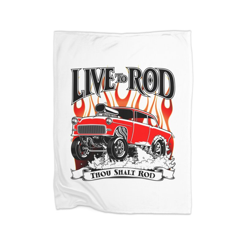 55 Chevy Gasser #2, Clean red Home Blanket by screamnjimmy's Artist Shop