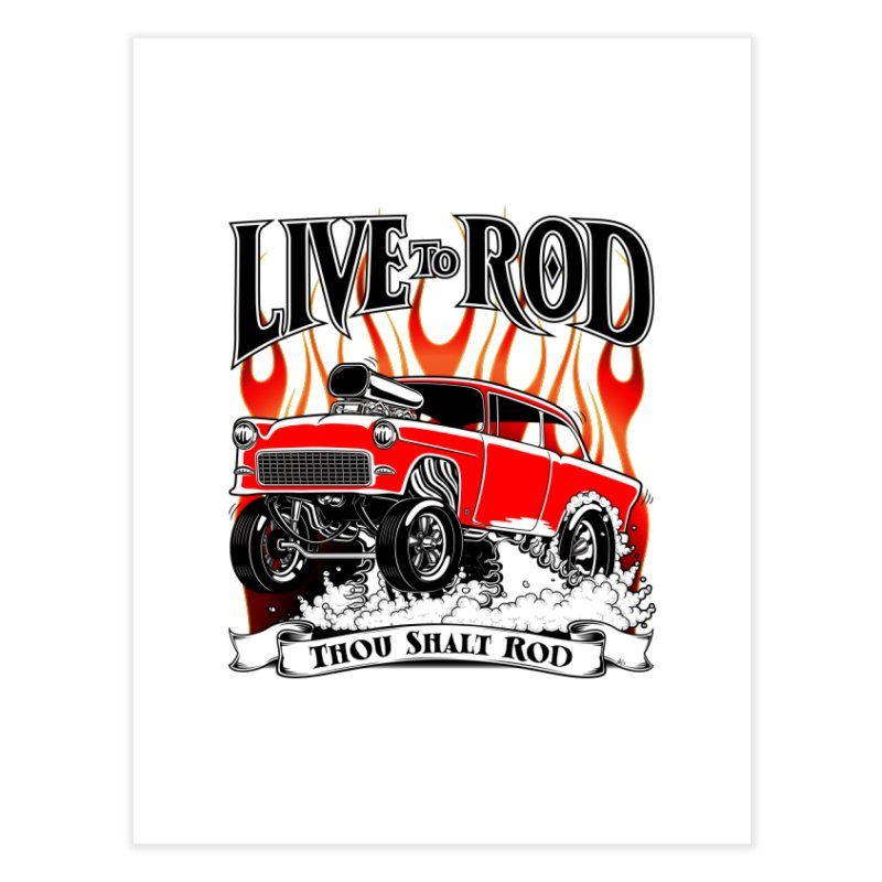 55 Chevy Gasser #2, Clean red Home Fine Art Print by screamnjimmy's Artist Shop