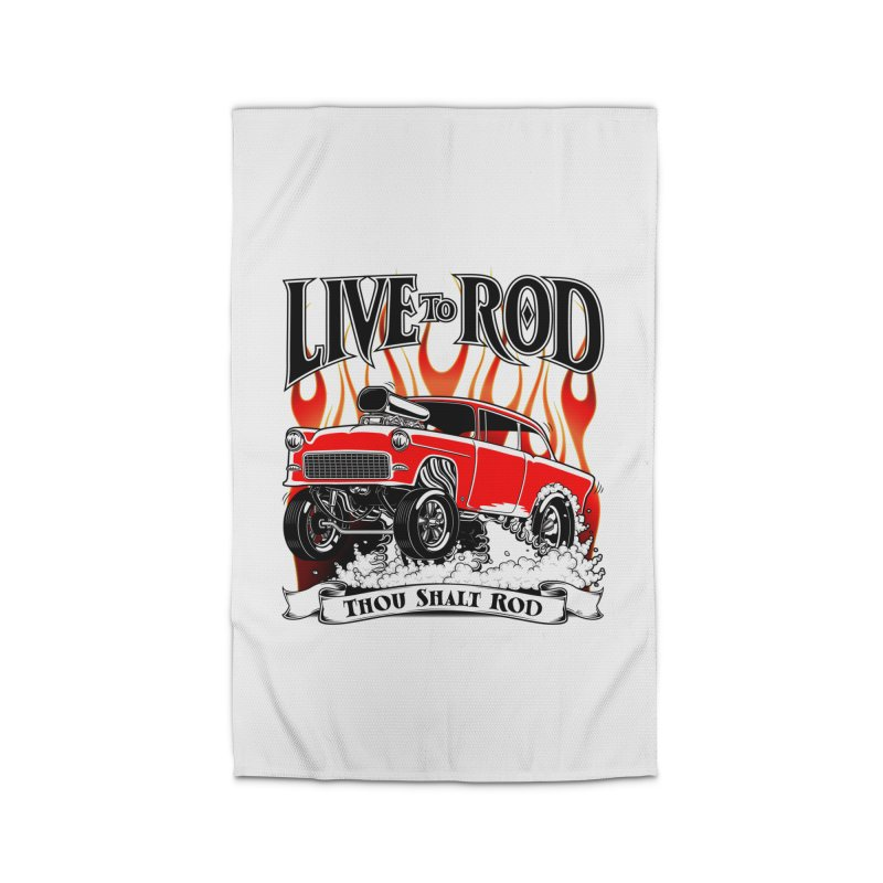 55 Chevy Gasser #2, Clean red Home Rug by screamnjimmy's Artist Shop