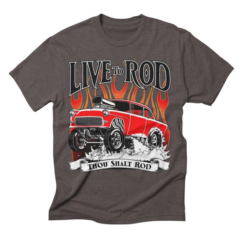 55 Chevy Gasser #2, Clean red Men's T-Shirt by screamnjimmy's Artist Shop
