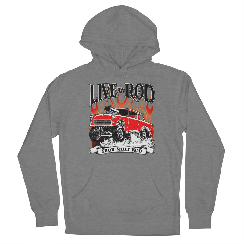 55 Chevy Gasser #2, Clean red Men's Pullover Hoody by screamnjimmy's Artist Shop