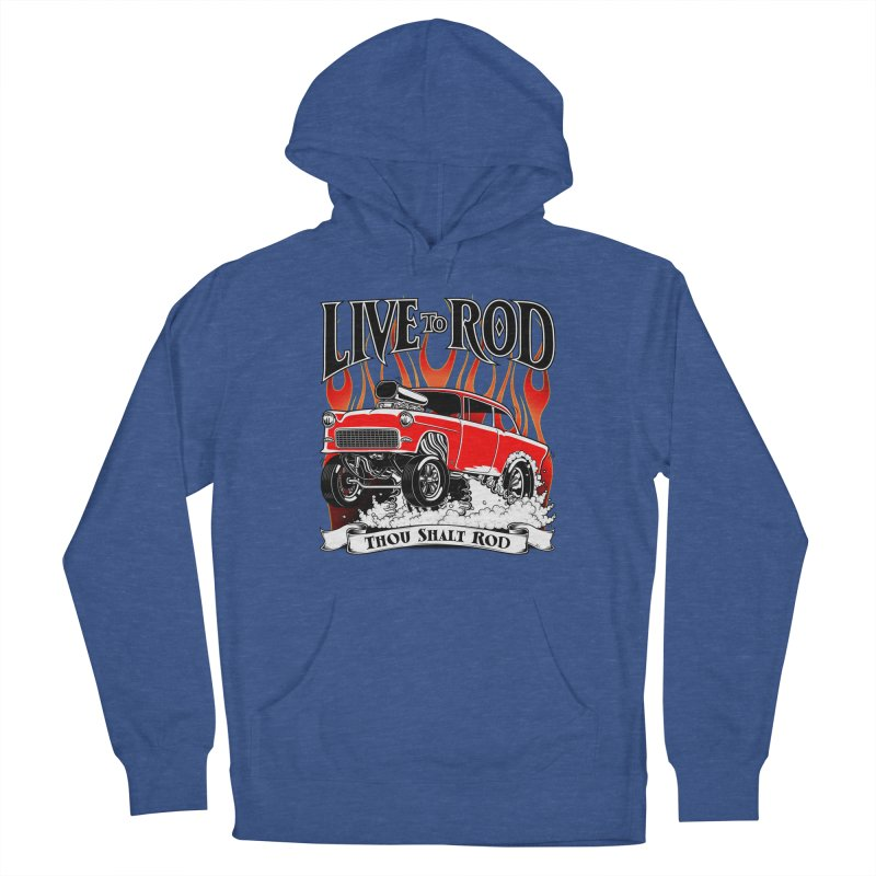 55 Chevy Gasser #2, Clean red Women's French Terry Pullover Hoody by screamnjimmy's Artist Shop