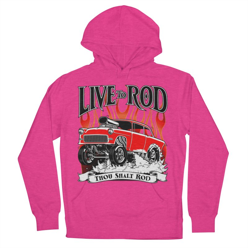 55 Chevy Gasser #2, Clean red Women's Pullover Hoody by screamnjimmy's Artist Shop