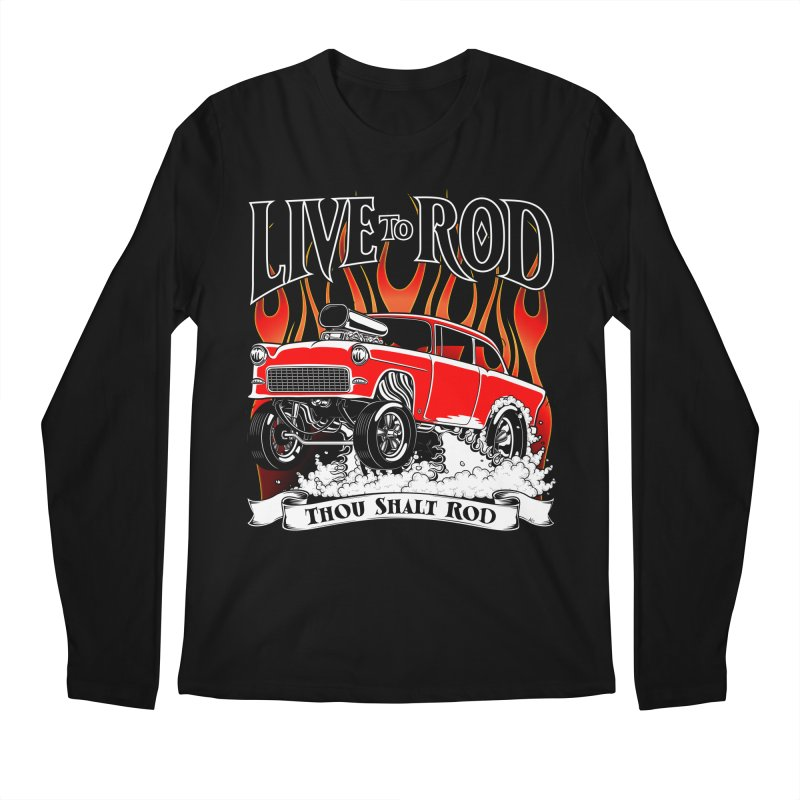55 Chevy Gasser #2, Clean red Men's Regular Longsleeve T-Shirt by screamnjimmy's Artist Shop