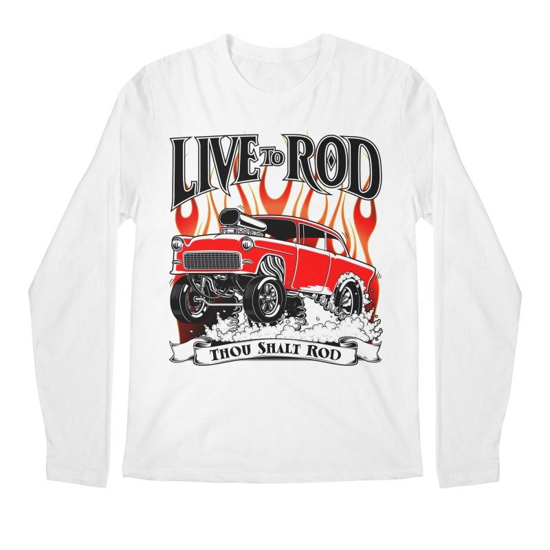 55 Chevy Gasser #2, Clean red Men's Regular Longsleeve T-Shirt by screamnjimmy's Artist Shop