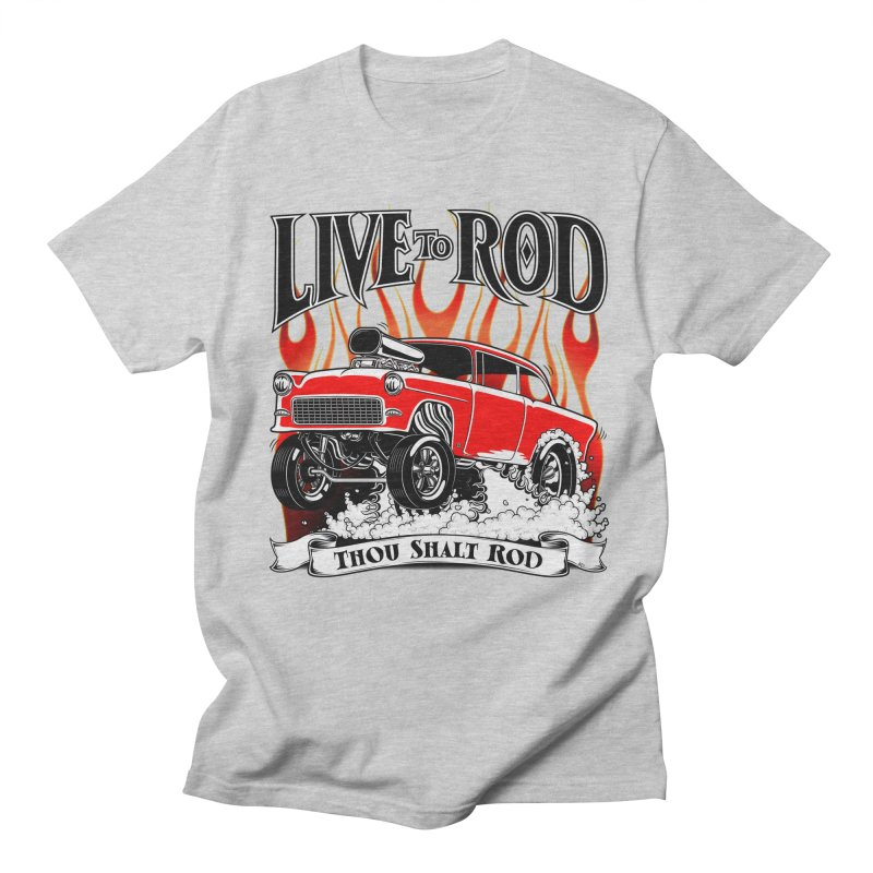 55 Chevy Gasser #2, Clean red Men's T-shirt by screamnjimmy's Artist Shop