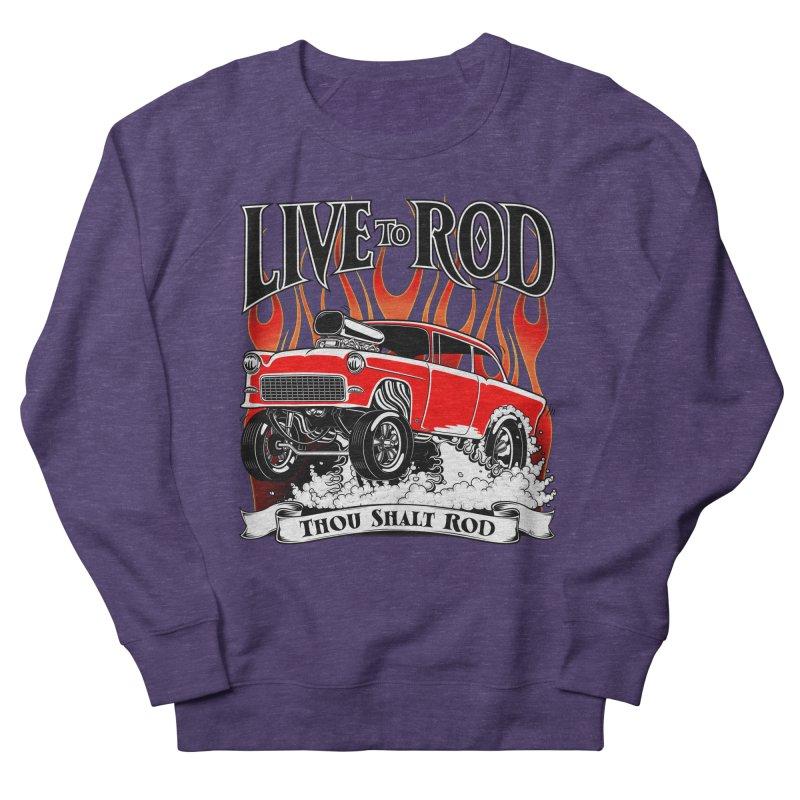 55 Chevy Gasser #2, Clean red Women's Sweatshirt by screamnjimmy's Artist Shop