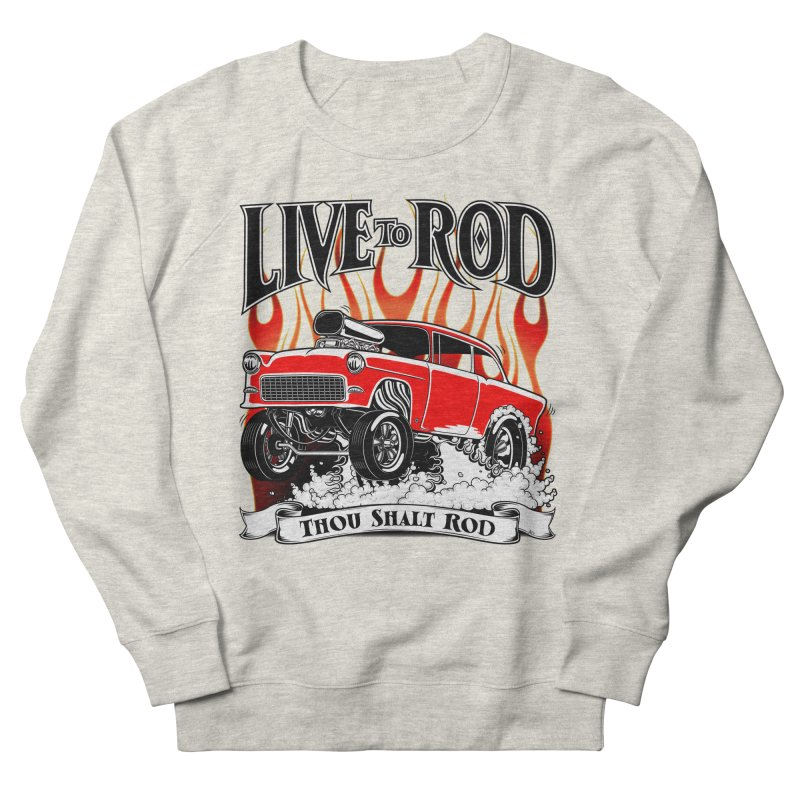 55 Chevy Gasser #2, Clean red Women's Sweatshirt by screamnjimmy's Artist Shop