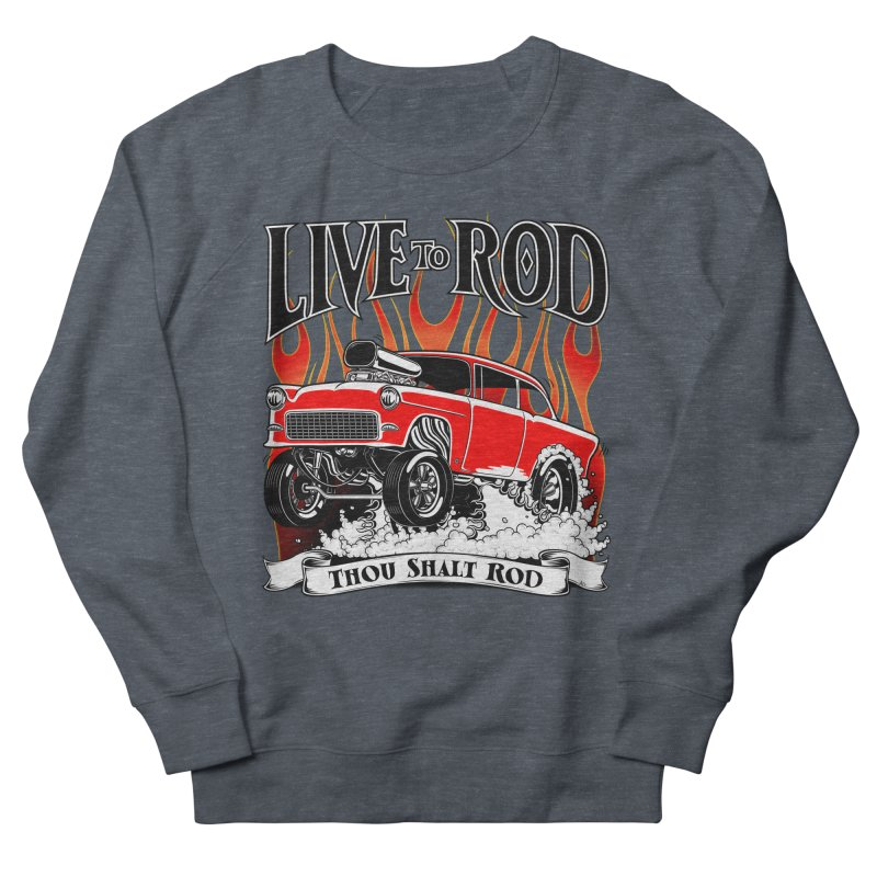 55 Chevy Gasser #2, Clean red Men's Sweatshirt by screamnjimmy's Artist Shop