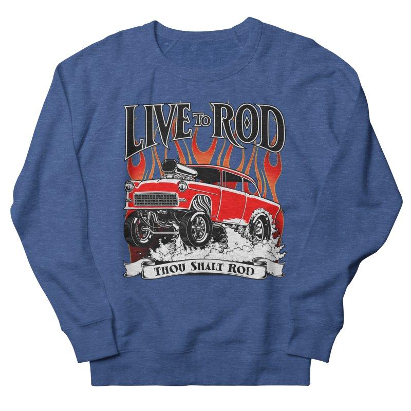 55 Chevy Gasser #2, Clean red Men's Sweatshirt by screamnjimmy's Artist Shop