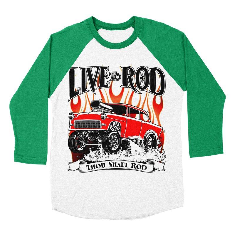 55 Chevy Gasser #2, Clean red Women's Baseball Triblend Longsleeve T-Shirt by screamnjimmy's Artist Shop