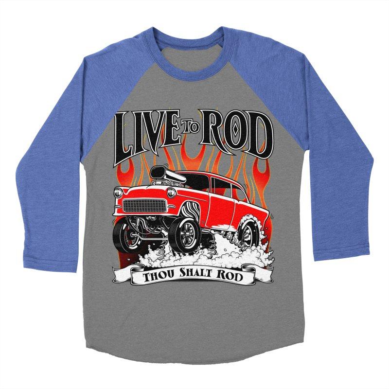 55 Chevy Gasser #2, Clean red Men's Baseball Triblend T-Shirt by screamnjimmy's Artist Shop