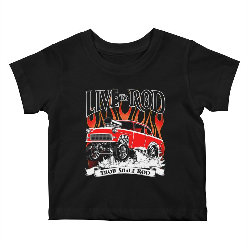 55 Chevy Gasser #2, Clean red Kids Baby T-Shirt by screamnjimmy's Artist Shop