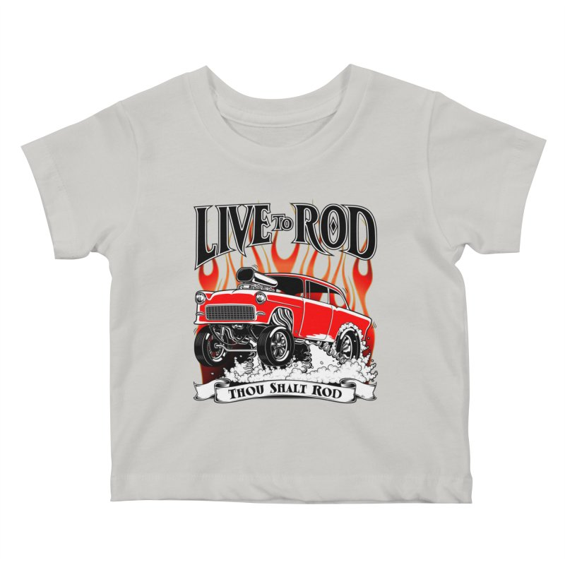 55 Chevy Gasser #2, Clean red Kids Baby T-Shirt by screamnjimmy's Artist Shop