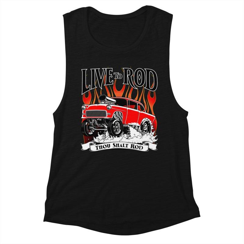 55 Chevy Gasser #2, Clean red Women's Tank by screamnjimmy's Artist Shop