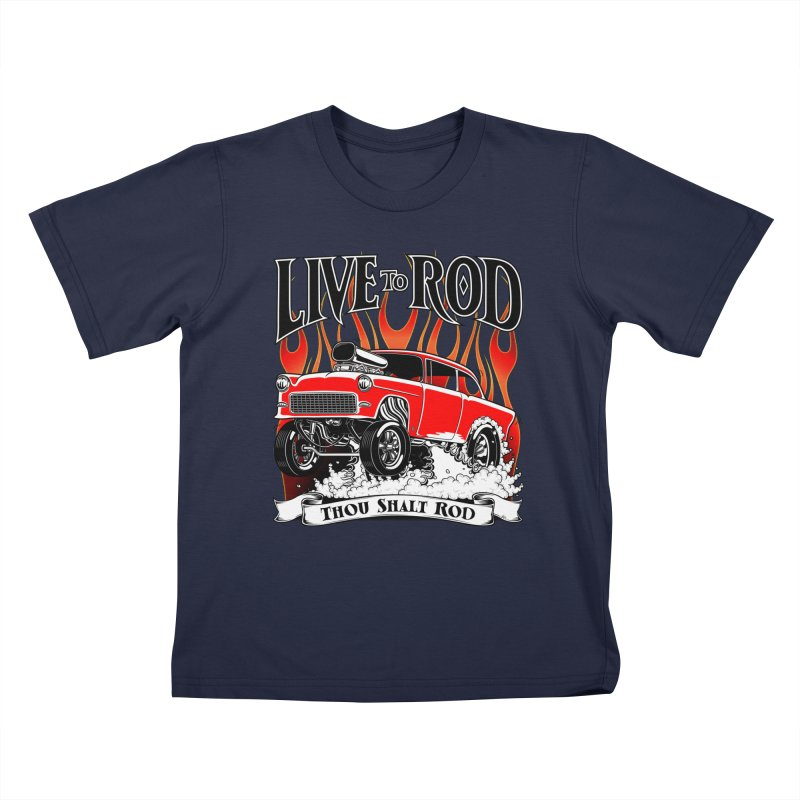 55 Chevy Gasser #2, Clean red Kids T-shirt by screamnjimmy's Artist Shop