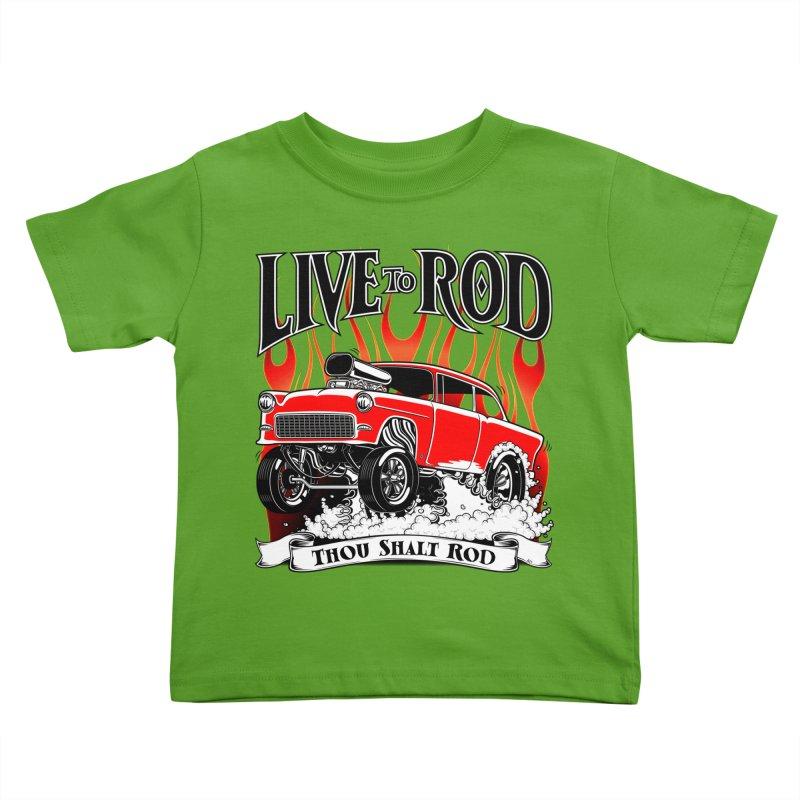 55 Chevy Gasser #2, Clean red Kids Toddler T-Shirt by screamnjimmy's Artist Shop