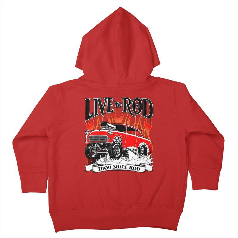 55 Chevy Gasser #2, Clean red Kids Toddler Zip-Up Hoody by screamnjimmy's Artist Shop