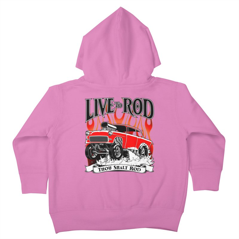 55 Chevy Gasser #2, Clean red Kids Toddler Zip-Up Hoody by screamnjimmy's Artist Shop